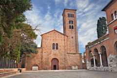 Ravenna, Italy: the medieval St. Francis basilica Stock Image
