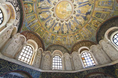 Ravenna Mosaics of the Baptistery of Neon Royalty Free Stock Image