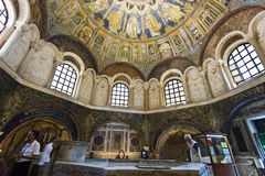 Ravenna Mosaics of the Baptistery of Neon Stock Images