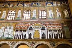 Ravenna Mosaics of Saint Apollinare Nuovo Royalty Free Stock Photo