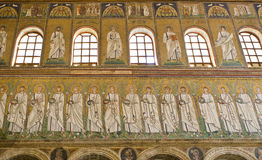 Ravenna Mosaics of Saint Apollinare Nuovo Stock Photography