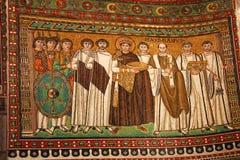 Ravenna, San Vitale, mozaïek, Italië Stock Foto
