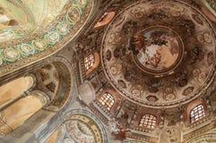 Ravenna san vitalekupol Arkivbild