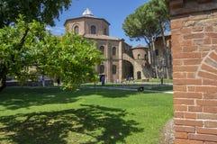 Ravenne/ITALIE - 20 juin 2018 : San Vitale Basilica stupéfiant le beau bâtiment historique, endroit d'intérêt photo stock