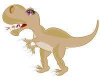 Ravenous prehistorical dinosaur Stock Photography