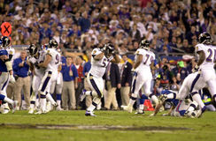 Ravens celebrate winning SB XXXV. Baltimore Ravens LB Ray Lewis and the rest of the defense begin to celebrate winning Super Bowl XXXV.  (Image taken from color Stock Photos