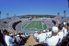 Ravens game at Old Memorial Stadium. A Baltimore Ravens game played at the Old Memorial Stadium in Baltimore.  Image taken from color slide Stock Photo