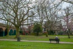 Ravenscourtpark in de middag royalty-vrije stock afbeeldingen