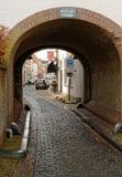 Ravenstein市` s入口,荷兰 免版税库存照片