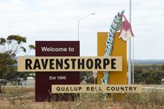 Ravensthorpe Welcome Sign Royalty Free Stock Image