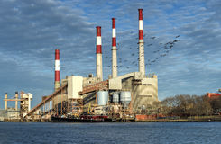 Ravenswood Generating Station, New York Royalty Free Stock Photography