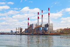 Ravenswood Generating Station in New York Stock Images