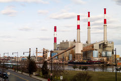Ravenswood Keyspan Generating Station on Roosevelt Island Royalty Free Stock Image