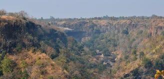 Ravin/gorge dans l'Inde et le Malwa centraux Images stock