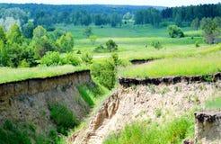 Ravinas de Steepe Foto de Stock