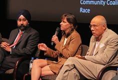 Ravinder Bhalla, Dawn Zimmer, et Bill Howard Image libre de droits