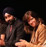 Ravinder Bhalla et Dawn Zimmer Image libre de droits