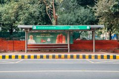 Ravinder Nagar Bus Stop in Delhi, India