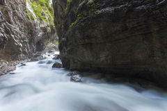 Ravine. In the bavarian alps Royalty Free Stock Images