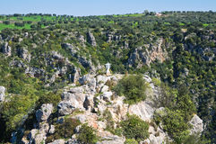 Ravine of Castellaneta. Puglia. Italy. Royalty Free Stock Photos
