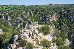 Ravine of Castellaneta. Puglia. Italy. Royalty Free Stock Photos