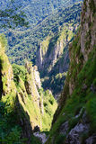 Ravine. Deep ravine along a trekking path, Italian alps Stock Image