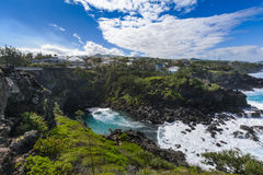Ravine des Cafres during a sunny day in Reunion Island. With a large blue sky Stock Photos