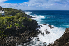 Ravine des Cafres during a sunny day in Reunion Island. With a large blue sky Stock Photography
