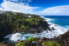 Ravine des Cafres during a sunny day in Reunion Island. With a large blue sky Stock Image