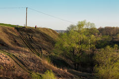 Ravine with electricity Royalty Free Stock Images