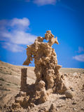 The ravine of the enchanted or lover Fuerteventura canary-island Stock Photos