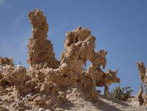 The ravine of the enchanted or lover Fuerteventura canary-island Stock Images
