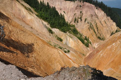 Ravine, erosion of geological layers Royalty Free Stock Photography