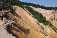 Ravine, erosion of geological layers Royalty Free Stock Image