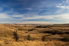 Холмы и овраг осенью Royalty Free Stock Photography