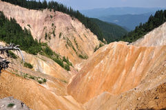 Ravine. Open pit in the mountains Stock Photography