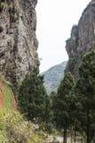 Ravine. This photo was taken in the Jingming  scenery area, Yandang Mountain,Zhejiang province,china Royalty Free Stock Photo