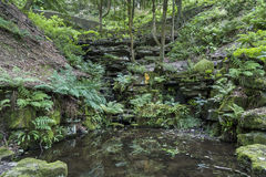 The ravine at Rivington Terraced Gardens Royalty Free Stock Image