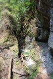 Ravine in Slovak Paradise National park, Slovakia. Ravine in Slovak Paradise National park in Slovakia stock image