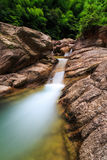 Ravine stream and pool Royalty Free Stock Images