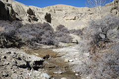 Ravine in Tibet. Ravine in west Tibet in China Royalty Free Stock Images