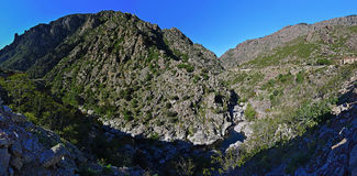RavinScala di Santa Regina i den Korsika ön Arkivfoton