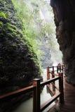 Ravinström i den svarta bergdalen Royaltyfria Bilder