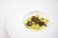 Ravioli και τρούφες Στοκ Εικόνα