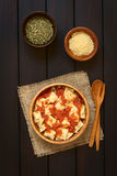 Ravioli με τη σάλτσα ντοματών Στοκ εικόνα με δικαίωμα ελεύθερης χρήσης