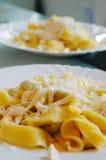 Ravioli που γεμίζουν με το σπανάκι και το ricotta, ιταλικά ζυμαρικά αυγών Στοκ Εικόνα