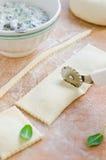 Ravioli. Production of Raviolin. House preparation Royalty Free Stock Image