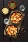 Ψημένο Ravioli με τη σάλτσα ντοματών Στοκ Εικόνα
