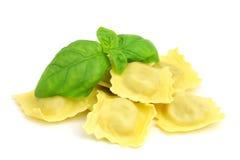 Free Ravioli An Basil Stock Image - 27538301