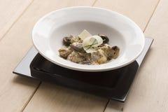 Ravioli avec des champignons de couche Photographie stock